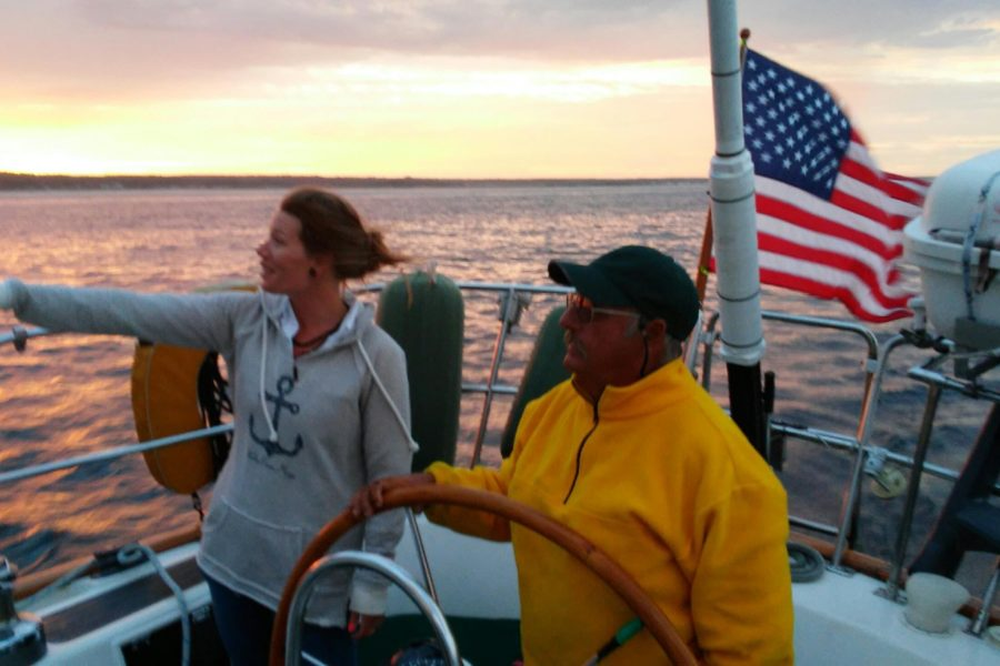 gift sailing american flag