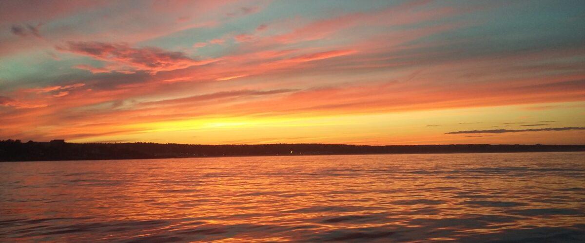 sunset on gift